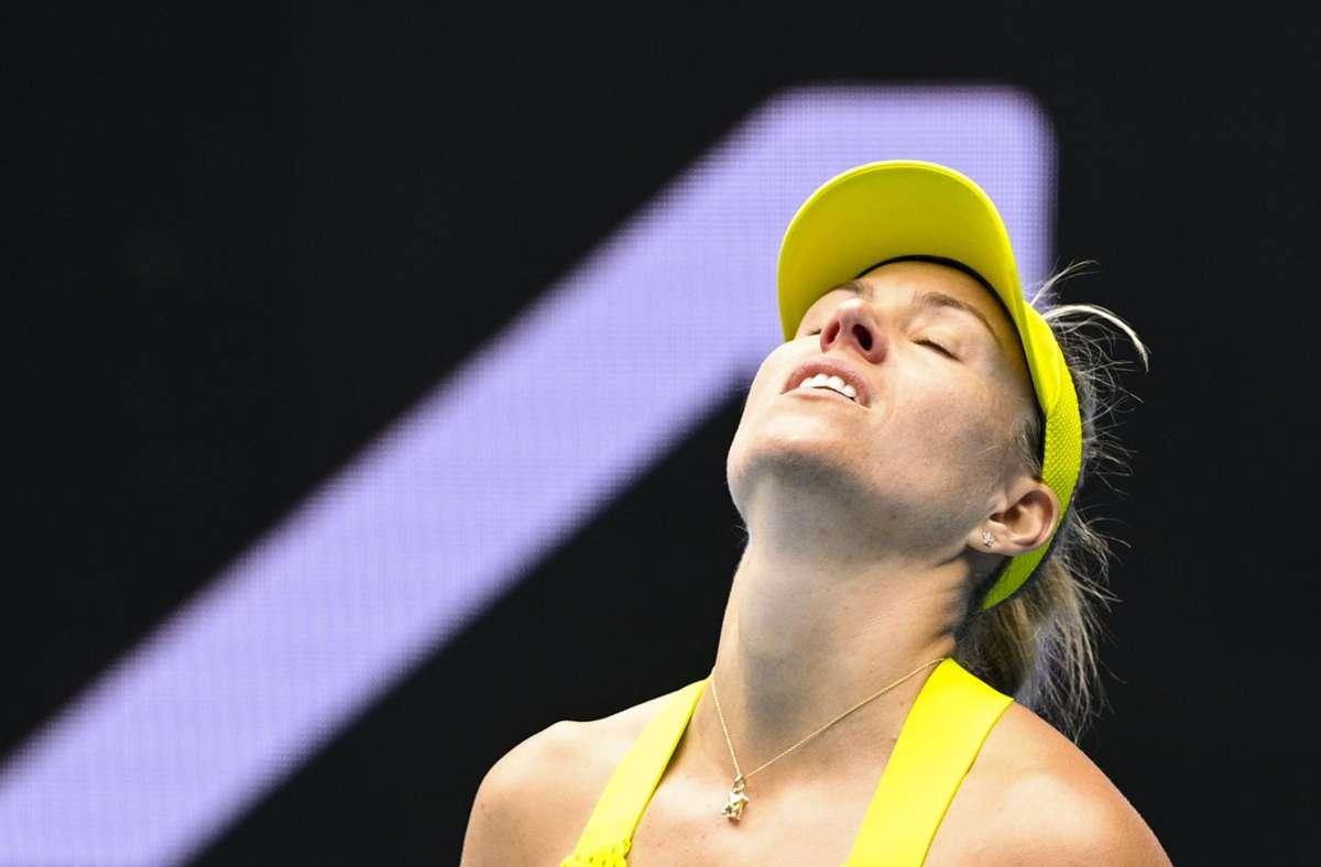 Angelique Kerber enttäuschte bei den Australian Open und schied bereits aus. Foto: dpa/Dean Lewins