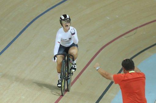 Kristina Vogel holt Gold im Bahnrad-Sprint