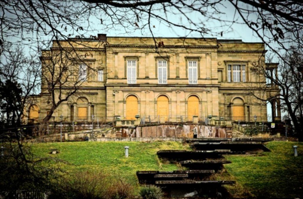 Die Zukunft  der Villa Berg ist immer noch ungewiss. Foto: Achim Zweygarth