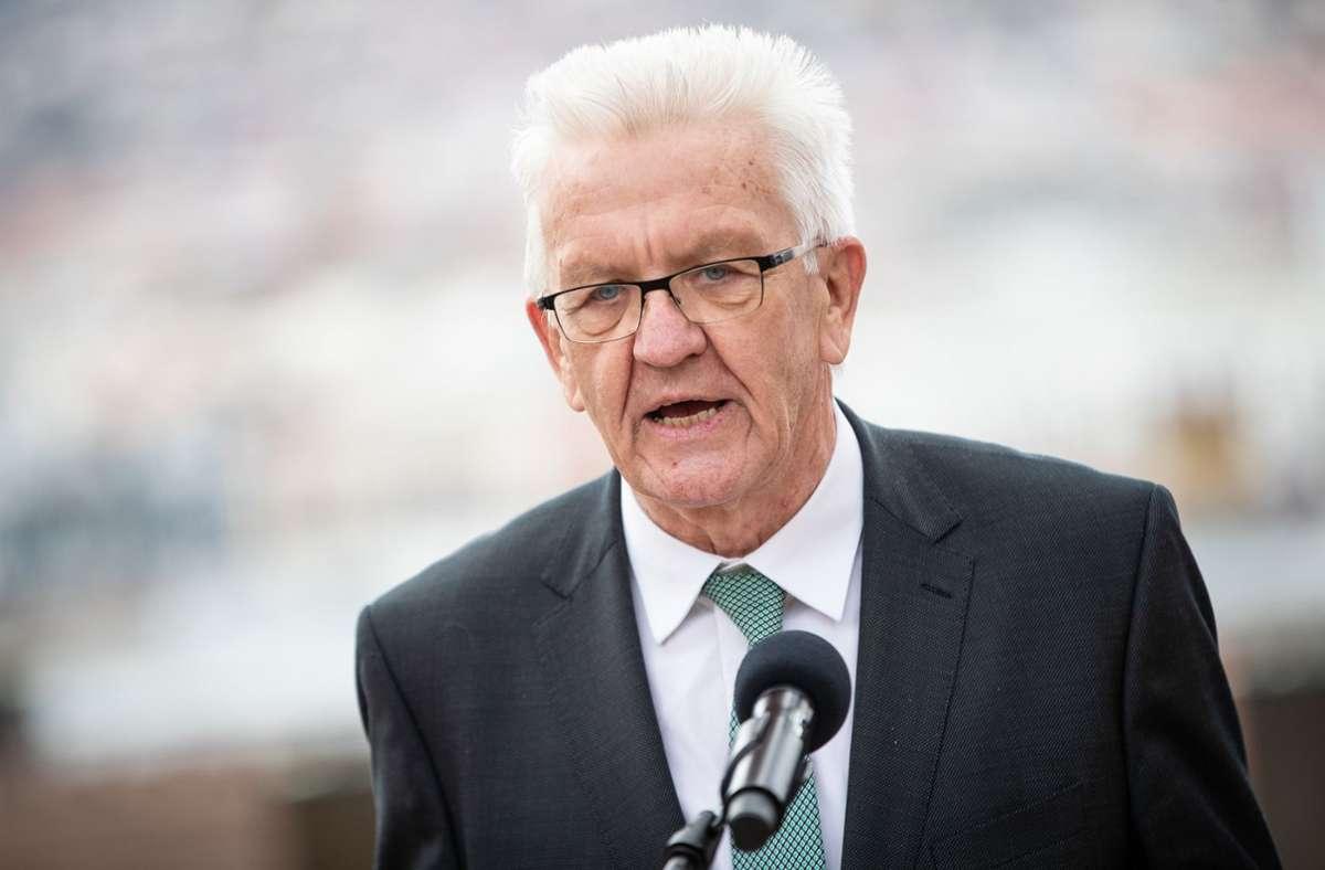 Ministerpräsident Winfried Kretschmann (Grüne) Foto: dpa/Christoph Schmidt