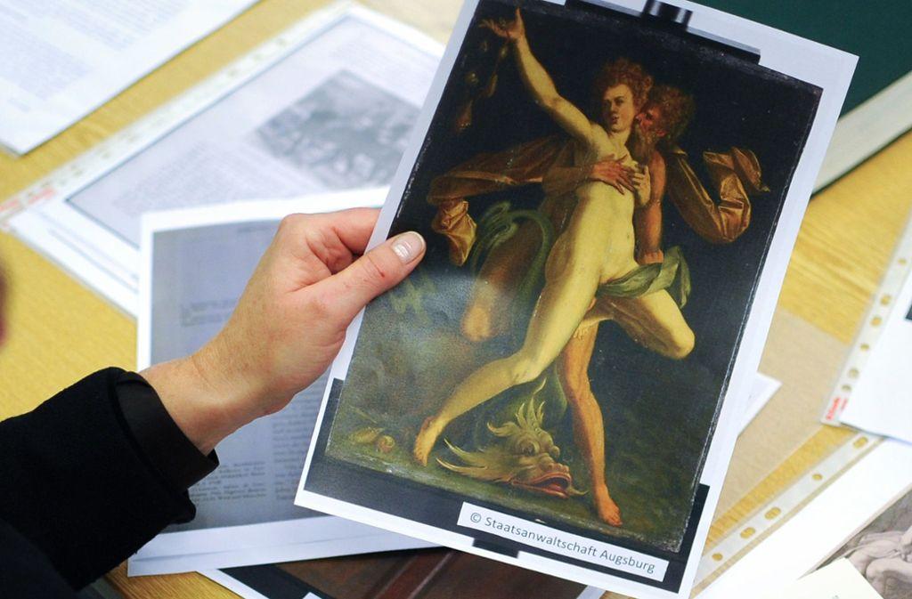 Diese  Kopie einer Tafel von Bartholomäus Spranger stammt nicht aus einem Kunstband, sondern aus den Akten der Staasanwaltschaft Augsburg: Noch immer sind viele Raubkunst-Fälle ungeklärt. Foto: dpa