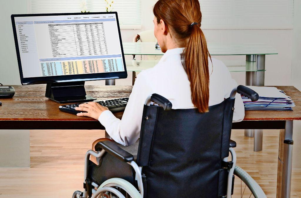 ...Menschen mit Behinderung,... Foto: Fotolia
