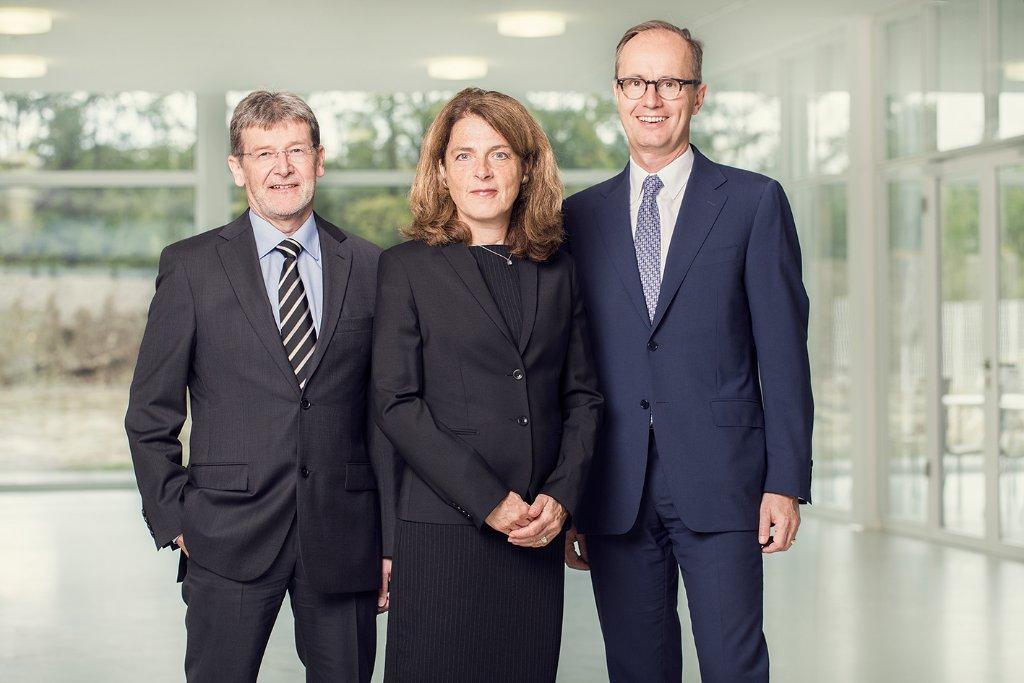 Die Hafner-Fühhrung Heinz-Günter Schenzel, Brigitta Hafner und Philipp Reisert. Foto: C. Hafner
