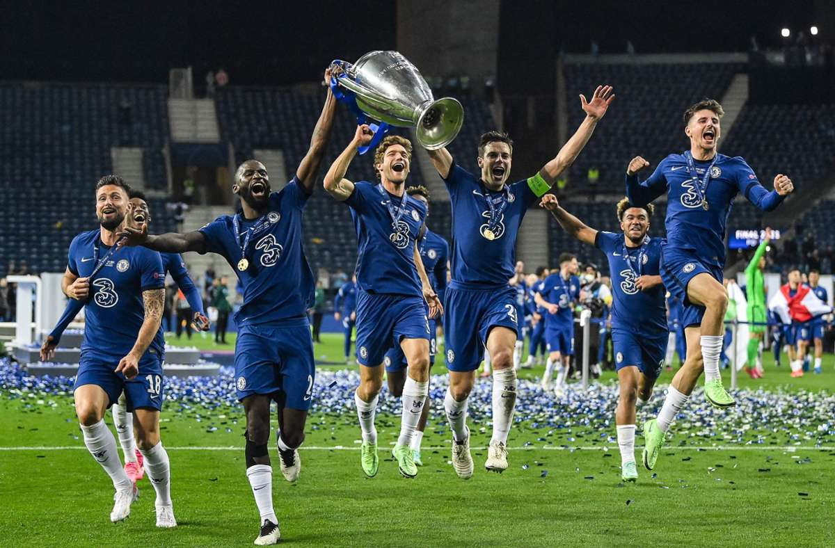 Der FCChelsea gewinnt das Champions-League-Finale. Foto: AFP/DAVID RAMOS