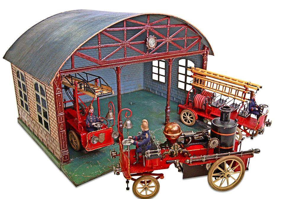Voll funktionsfähig:  Märklin-Feuerwehrhaus aus dem Jahr 1910. Foto: Veranstalter