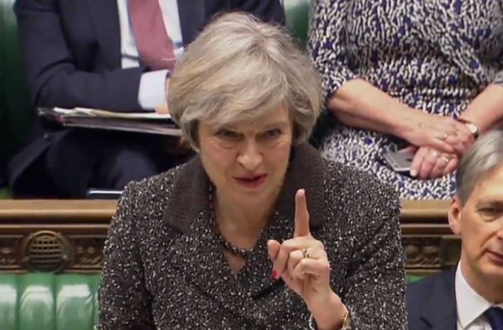 Die britische Premierministerin Theresa May führt ihr Land aus der EU heraus. Spaltet sie es auch? Foto: AFP