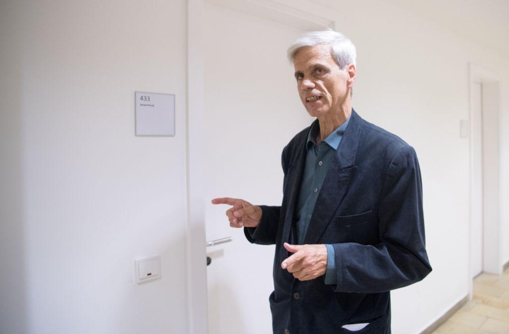 Wolfgang Gedeon am Dienstag vor der Fraktionssitzung. Foto: dpa