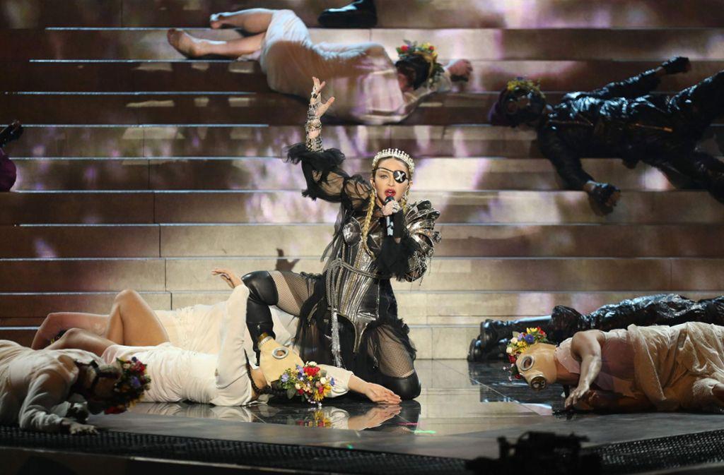 Madonna bekommt für ihren Auftritt beim ESC von den Zuschauern keine zwölf Punkte. Foto: AFP