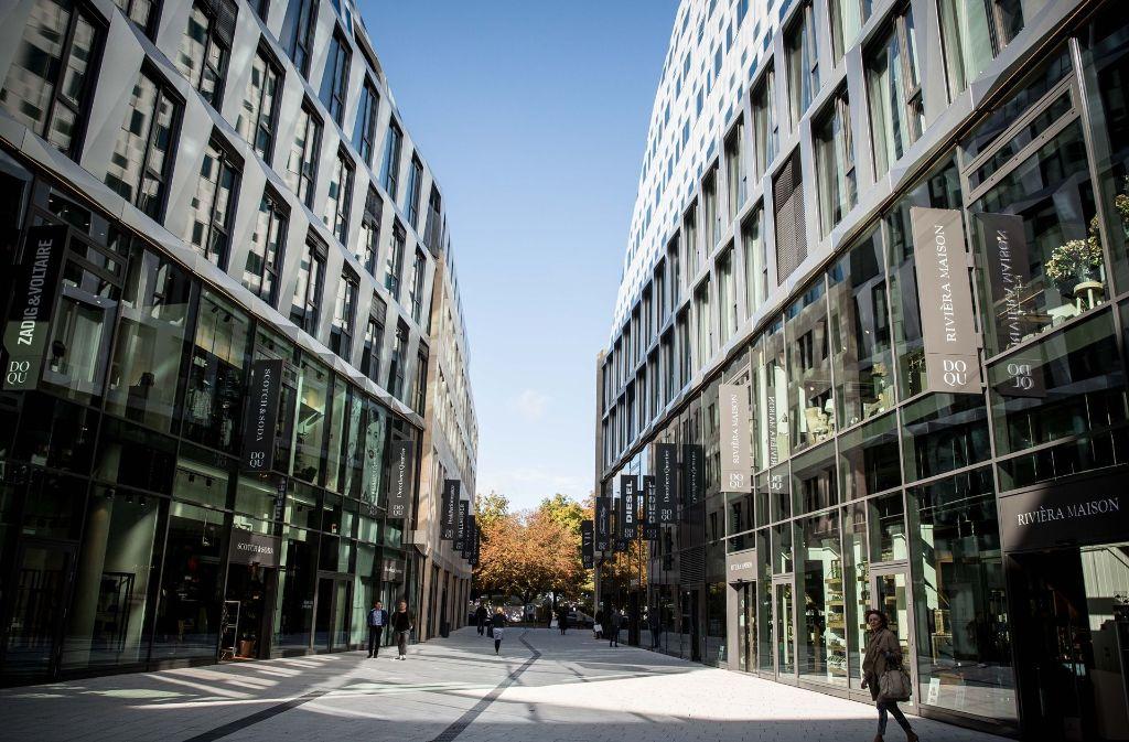 In der Landeshauptstadt sind im Dorotheenquartier 2017 neue Büroflächen in zentraler Lage entstanden. Den Großteil belegt das Land für Ministerien. Foto: Lichtgut/Leif Piechowski