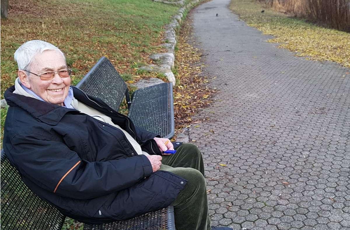 Fred Galanto hat gerne auf dieser Bank am Lindenbachsee gesessen. Foto: Tania Galanto