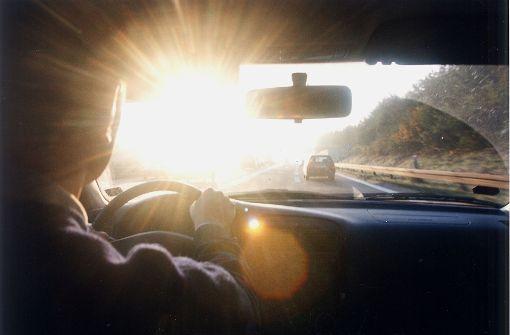 Von der Sonne geblendet – Unfall