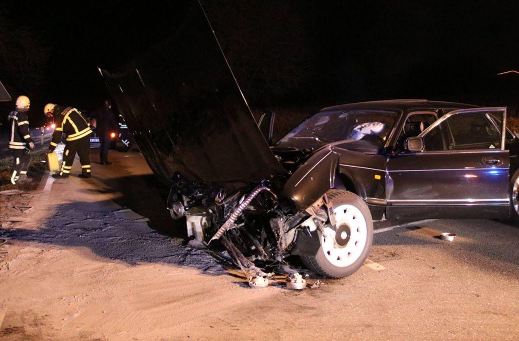 Der Jaguar-Fahrer zog sich bei Schwaikheim schwere Verletzungen zu. Foto: 7aktuell.de/Kevin Lermer