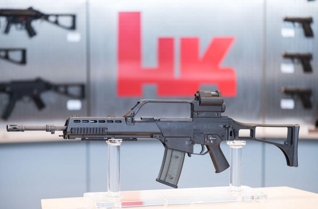 Heckler & Koch stellt unter anderem das Standardgewehr der Bundeswehr G36 her. Foto: dpa