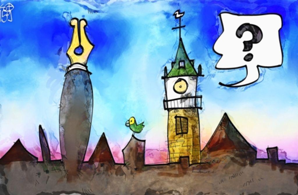 Bad Cannstatt aus Sicht des Karikaturisten Foto: Kostas Koufogiorgos