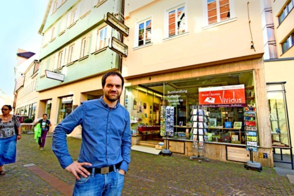 Benjamin Wagner will endlich sein Geschäft  rundum fertig   haben. Foto: Christian Hass