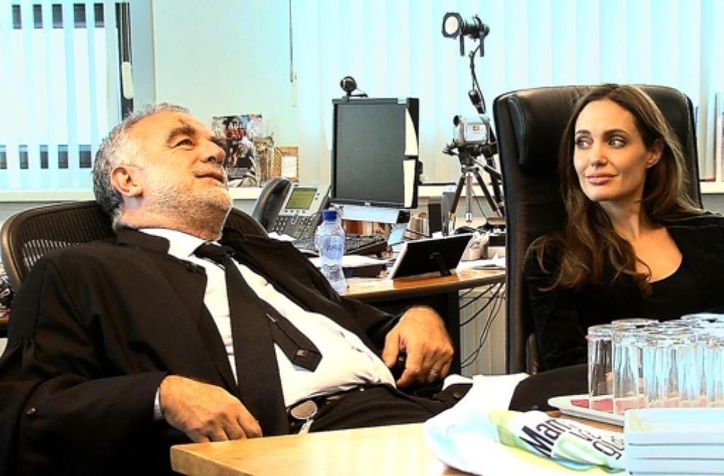 Kämpfer gegen Ungerechtigkeit: Luis Moreno Ocampo und Angelina Jolie Foto: SWR