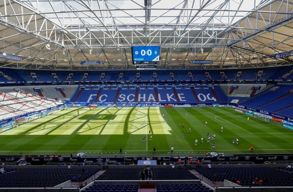 Während der Corona-Krise sind Geisterspiele in der Bundesliga angesagt. Foto: dpa/Karsten Rabas
