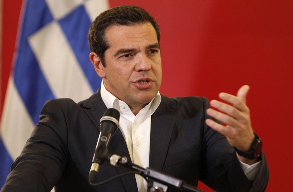Premier Alexis Tsipras macht sein Wahlversprechen wahr und stellt Forderungen an Berlin. Foto: AP