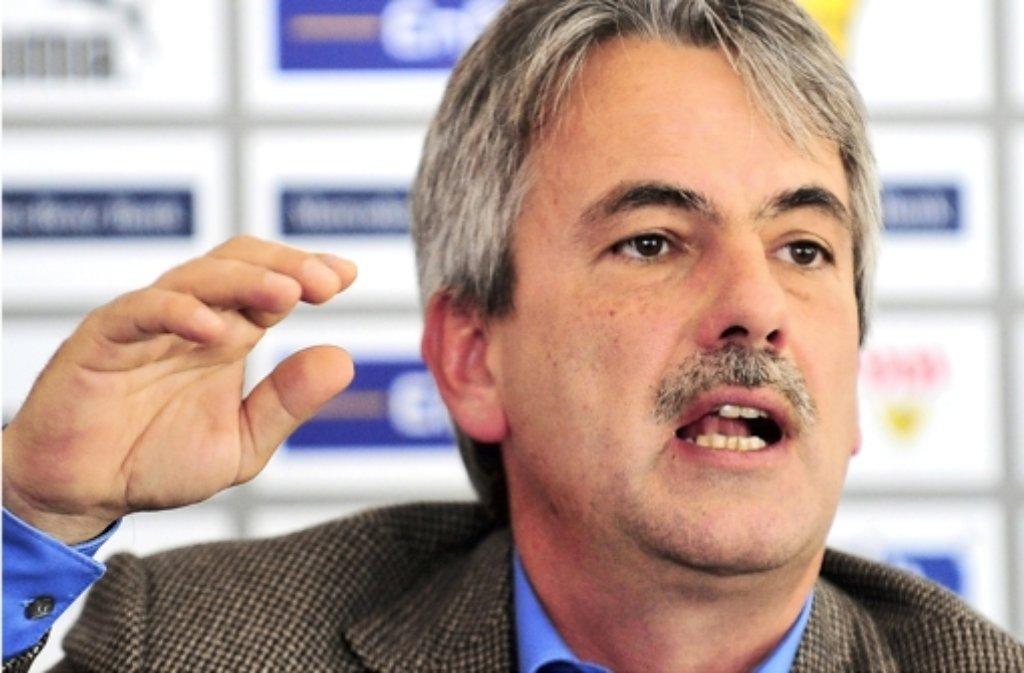 Der VfB-Präsident Gerd Mäuser steht in der Kritik. Foto: dpa