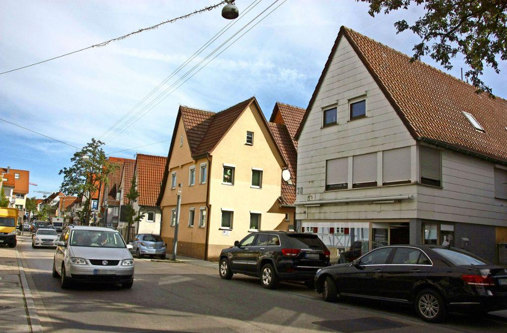 Die Echterdinger Hauptstraße soll   auch jenseits des Zeppelinplatzes hübscher werden. Foto: Natalie Kanter