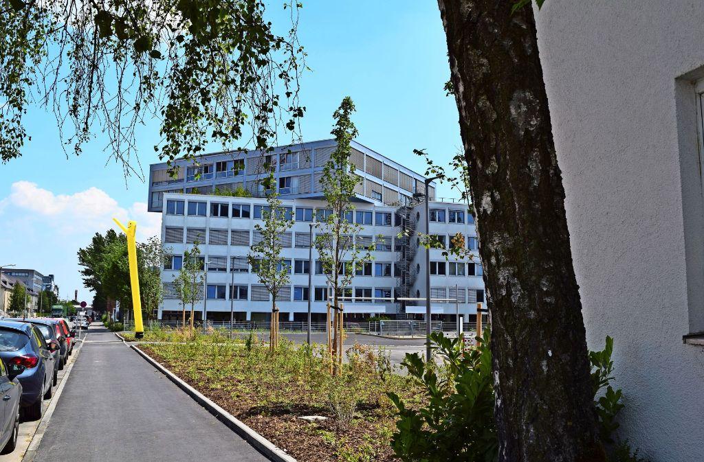 Weil der Brandschutz am Bürogebäude nachgebessert werden muss, kann die  Schule noch nicht umziehen. Foto: Archiv  Alexandra Kratz