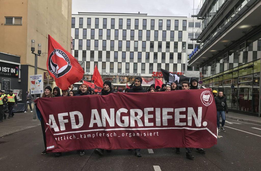 Weitere Eindrück von Demo und Gegendemo in der Stuttgarter Innenstadt. Foto: 7aktuell.de/Marc Gruber