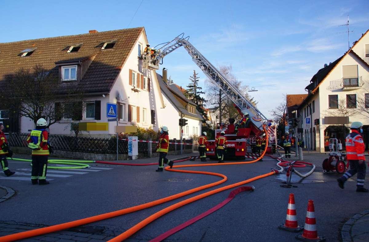 Weitere Bilder des Einsatzes in Leinfelden-Echterdingen. Foto: SDMG/Boehmler