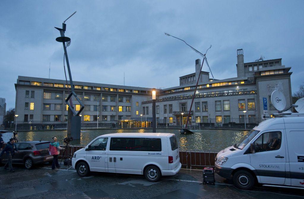 Das Kriegsverbrechertribunal in Den Haag. Foto: AP/Archivbild