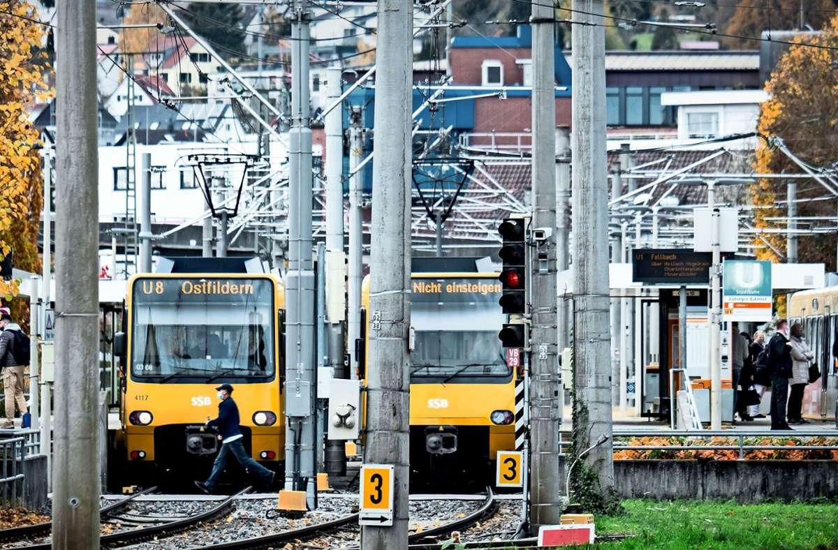 Die Stuttgarter Straßenbahnen AG  baut ihr Streckennetz weiter aus. Ein wichtiger Knotenpunkt ist dabei auch der Halt in Vaihingen. Foto: Lichtgut/Achim Zweygarth