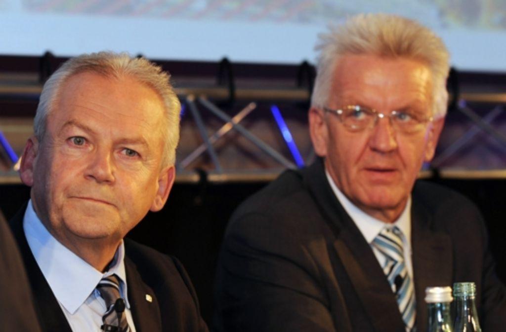 """Winfried Kretschmann spricht im Zusammenhang mit Stuttgart 21 von einer """"schweren Vertrauenskrise"""" gegenüber der Bahn. Foto: dpa"""