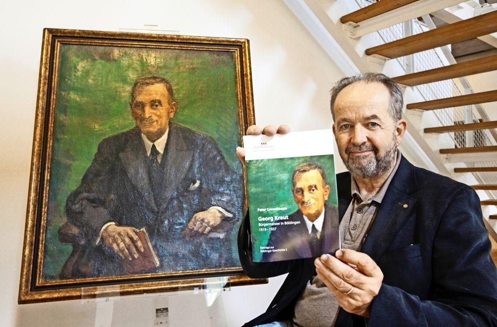 Georg Kraut (links) und sein Biograf Peter Conzelmann Foto: factum/Granville