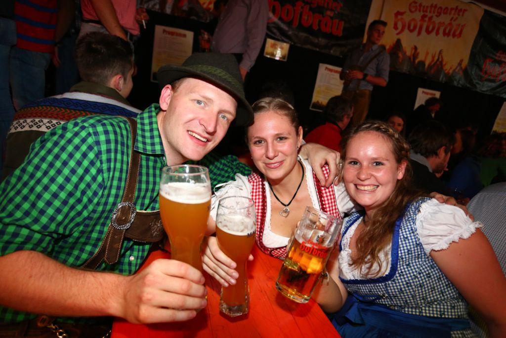 Nicht mehr lang, dann beginnt in Stuttgart die Wasenzeit. Wer sich einstimmen wollte, der war am Samstag bei Stuttgarter Hofbräu in Heslach auf dem Brauereifest richtig. Foto: Benjamin Beytekin