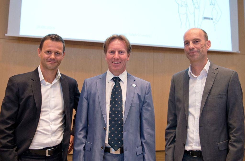 Expertengespräch: Alnaus von Radecki, Ralpf Schertlen, Wolfgang Volz (von links) Foto: Lichtgut/Willikonsky