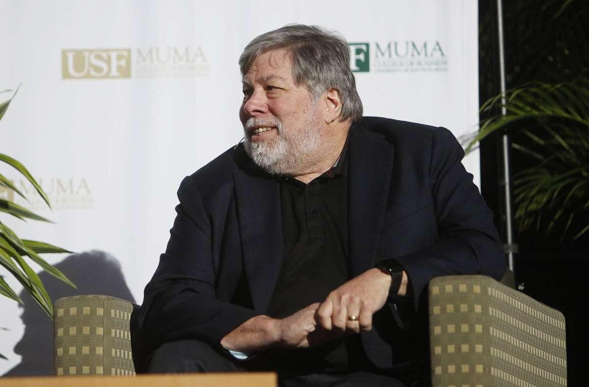 Ingenieur und Mitbegründer von Apple Steve Wozniak  hat den Apple I Computer in den 70er Jahren entwickelt. (Archivbild) Foto: imago images/ZUMA Press/Octavio Jones