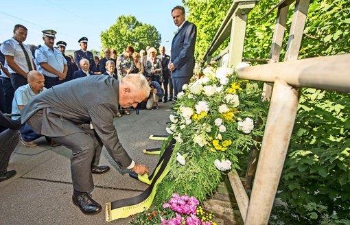 Die Polizei gedenkt der toten Kollegen