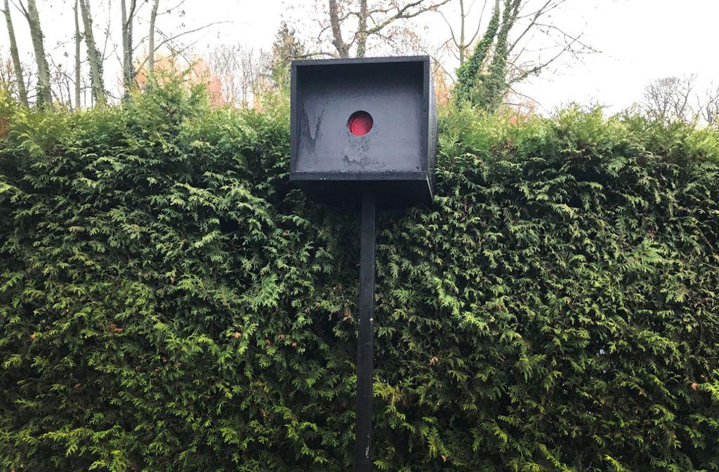 Dieser Fake-Blitzer in Köln sorgte 2018 für eine Gerichtsverhandlung. Foto: picture alliance/dpa/privat