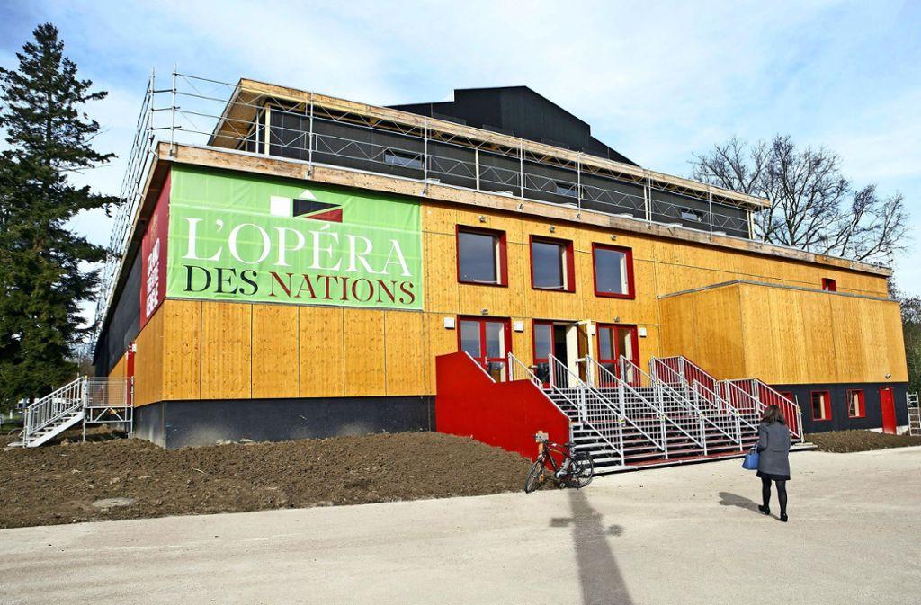 Die Holzoper in Genf: Ein ähnliches Provisorium könnte auch in Stuttgart Oper und Ballett eine vorübergehende Heimstatt bieten. Foto: KEYSTONE