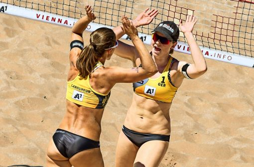 Beachvolleyball made in Stuttgart