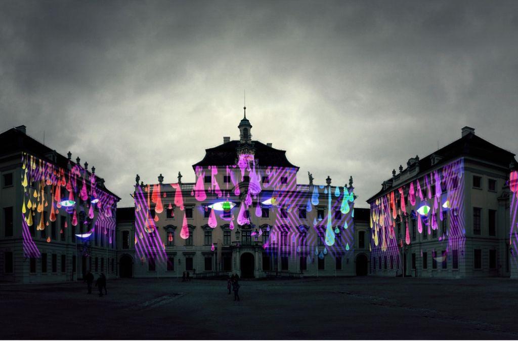 Projektionen auf der Schlossfassade sollen bei dem Festival für eine besondere Atmosphäre sorgen. Foto: Staatliche Schlösser und Gärten Baden-Württemberg