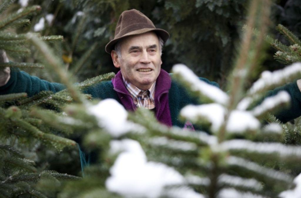 Hugo Munz verkauft die Bartenbacher Bäume auch in Ludwigsburg. Foto: Horst Rudel