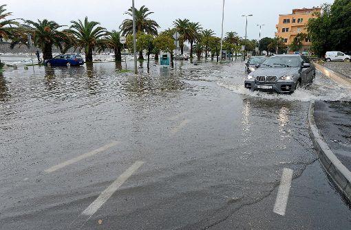 Sturzflutartige Regenfälle überschwemmen Zadar