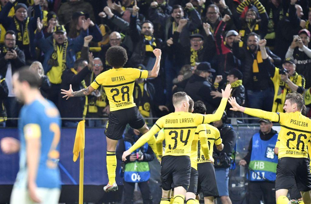 Axel Witsel erzielte das 1:0 für Dortmund. Foto: AP