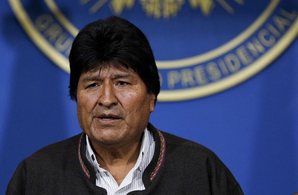 Evo Morales muss sich dem Druck beugen. Foto: dpa/Juan Karita