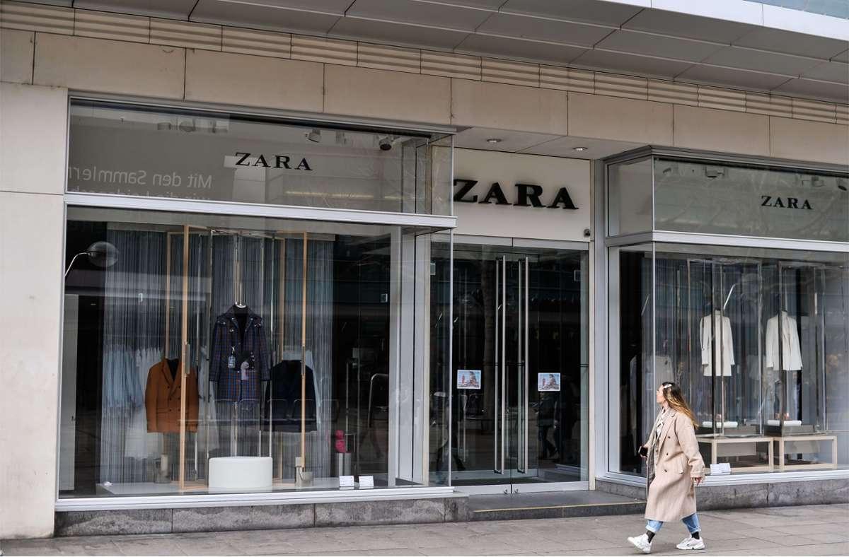 Unter anderem  die Modekette Zara in Stuttgart und der Umgebung soll bestreikt werden. (Archivbild) Foto: Lichtgut/Max Kovalenko