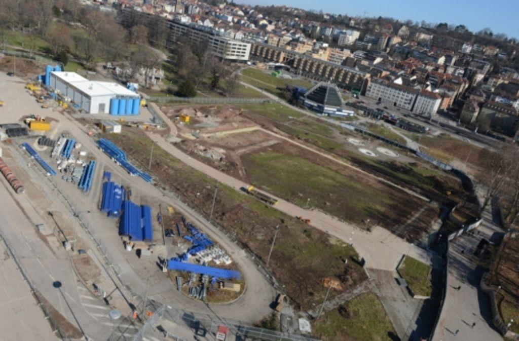 Ein Teil der Stuttgart-21-Baustelle. Der Bahn-Aufsichtsrat hat für das Projekt grünes Licht gegeben. Foto: dpa
