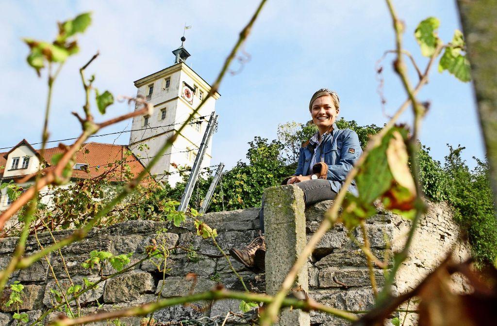 Will eine moderne Weinkönigin sein: Carolin Klöckner aus Vaihingen/Enz. Foto: factum/Bach