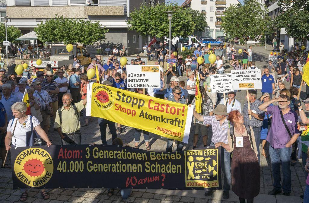 Die Bürgerinitiative hat mit den Protesten gegne Atomschutt Erfolg gehabt. Foto: factum/Weise