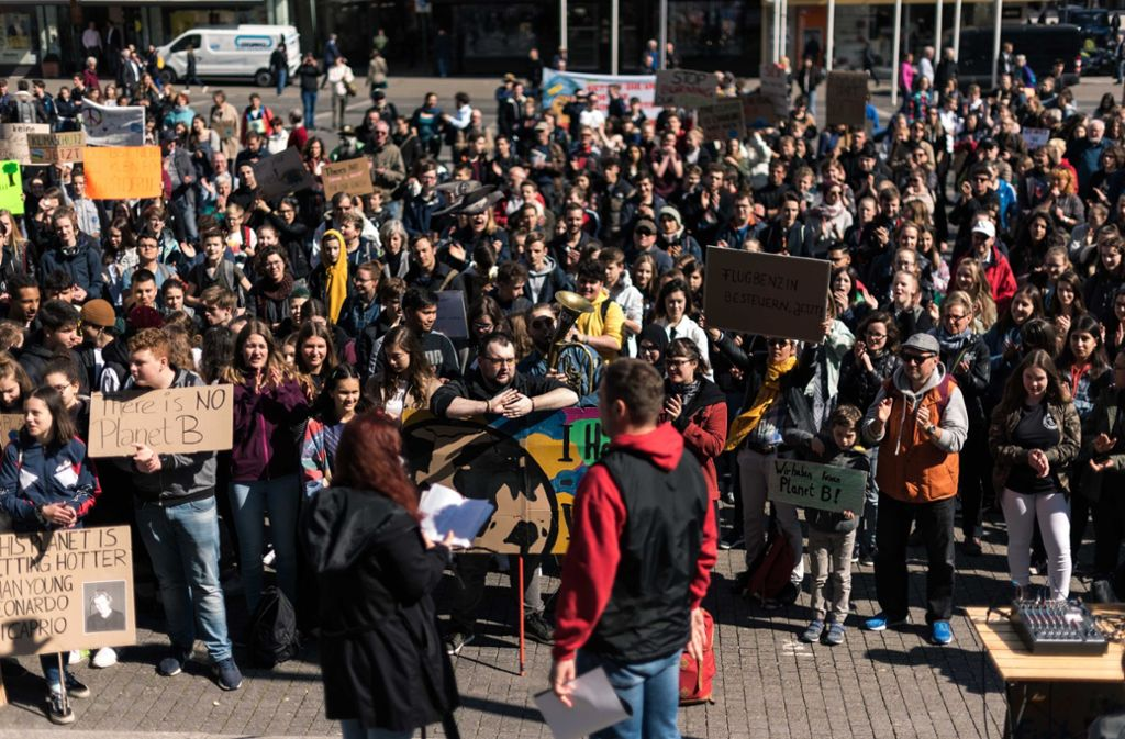 Auch in Stuttgart streiken Schüler regelmäßig für den Klimaschutz. Foto: Lichtgut/Max Kovalenko