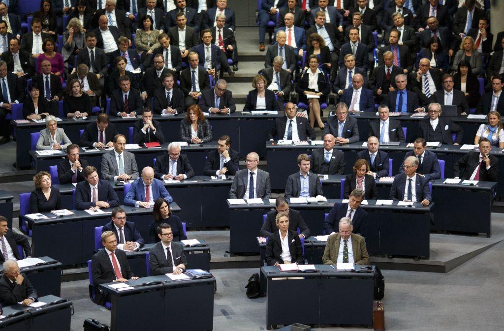 Rechts im Bild: Die AfD-Fraktion im Bundestag. Foto: Getty Images Europe