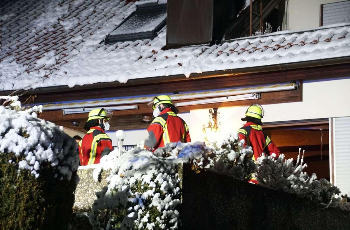 Die Feuerwehr rückte am Mittwochabend zu einem Brand in Aichwald aus. Foto: /SDMG / Boehmler